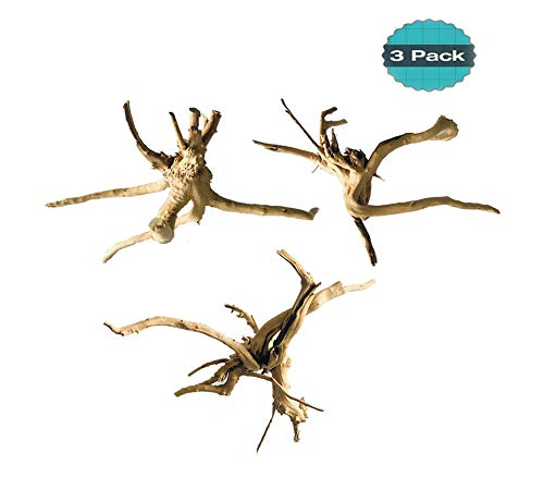 for Aquarium Reptiles Spider Wood Branches Natural Trunk Driftwood Tree Fish Tank Decoration 3 PCS ()