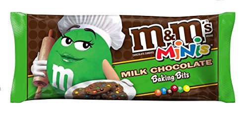 M&M'S Milk Chocolate MINIS Size Baking Bits 10-Ounce Bag (Pack of 18) -