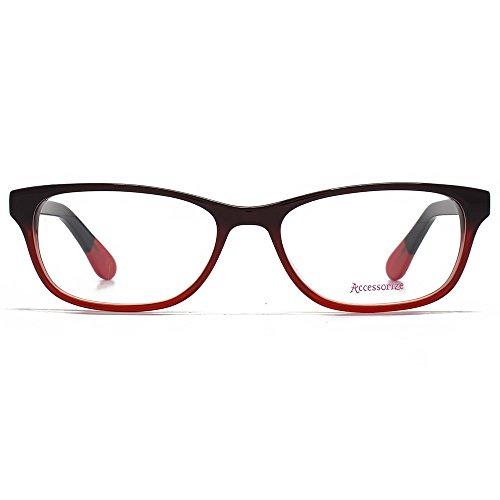 Accessorize Lunettes Rectangle Glam en rouge ACS005-RED clear