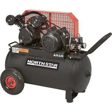 - NorthStar Belt Drive Single-Stage Portable Air Compressor 2 HP, 20-Gallon, Horizontal, 5.0 CFM