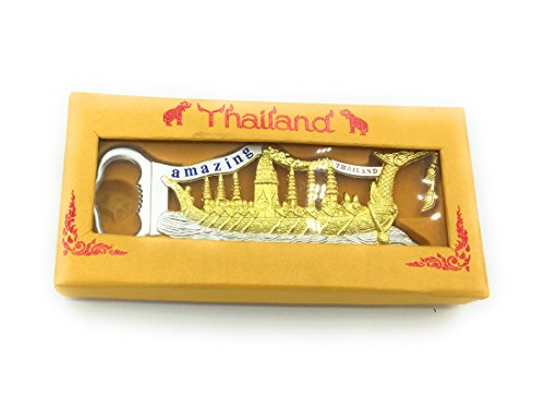 Thai unique souvenir bottle opener Suphannahong Royal stronger & lightweight thai bottle opener for Beer & Soda Bottles for Accessories Enthusiasts Silver/Gold W/ original box by WD store