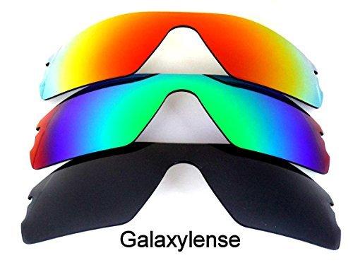 Galaxy Lentes De Repuesto Para Oakley Radar Path Negro, verde y rojo color Polarizado 3
