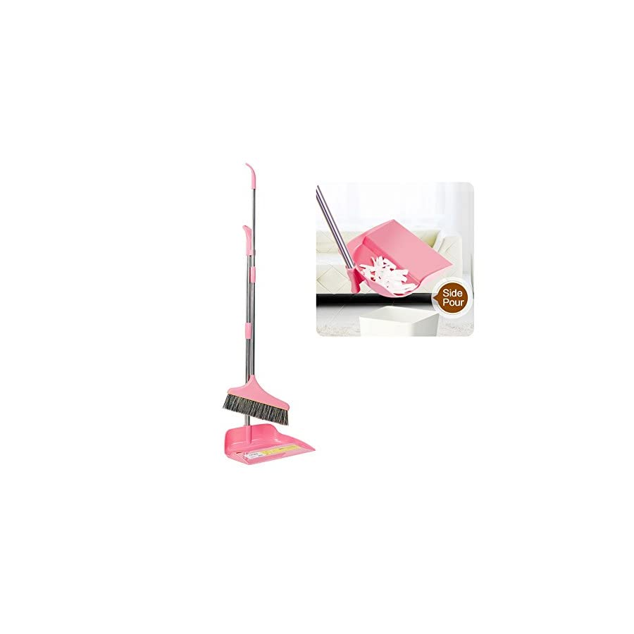 Clearance!!! Dustpan broom sets,Hmlai New Material Home Casual Environmental Recycle Upright Sweep Set Dustpan Set for Lobby Kitchen Garden Garage Office
