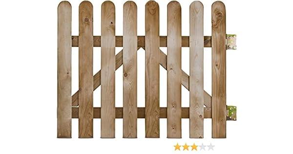 Portillo de madera cuchillas rectas Demi Rondin stackette – L100 ...
