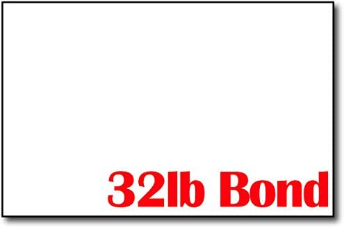 Premium Weight 32lb Bond White 5 1//2 x 8 1//2 Sheets Half Letter Size 500 Sheets