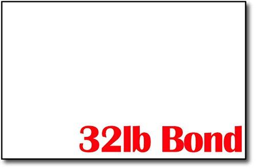 Premium Weight 32lb Bond White 5 1/2