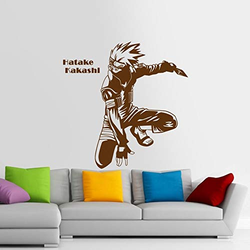 Wall Art Decal Sticker Naruto Japanese Cartoon Car Sticker Kakashi Naruto Decal Posters Vinyl Wall Decals Pegatina Decor Mural Sticker