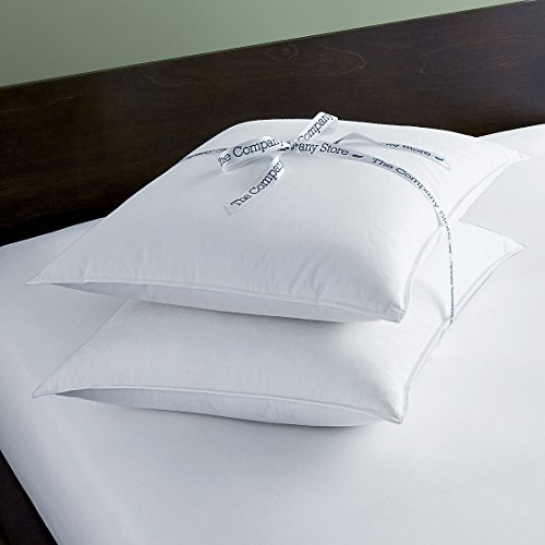 The Company Store Down-Free Pillows, Standard, White - 2 - Pillow Std White Bed Down