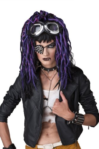 [California Costumes Purple Apocalypse Dreads Wig, Black/Pink/Purple, One Size] (Purple Wig Costumes)