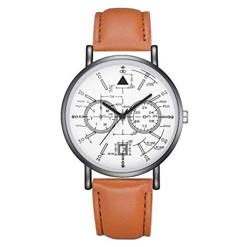 BEUU 2018 Leather Strap Watch New Wholesale Price Luxury Fashion Band Analog Quartz Round Wrist Watches Watch Wristwatch Fashion Watches (D)