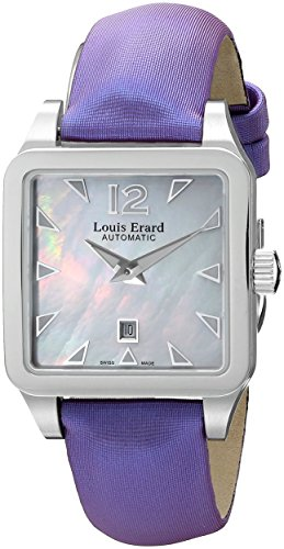 Louis Erard Women's 20700AA04.BDS63 Emotion Square Automatic Purple Satin Watch