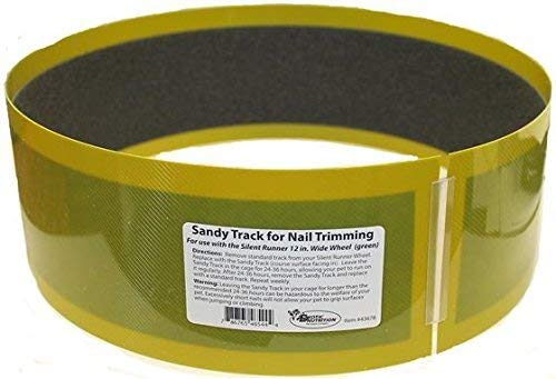 Exotic Nutrition Sandy Track - for Green Silent Runner 12'' Wide - Textured Nail Trimming Track for Pet Exercise Wheel by Exotic Nutrition