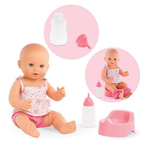 Corolle Mon Grand Poupon Emma Drink &-Wet Bath Baby Toy Baby Doll (Baby Corolle)