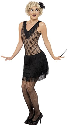 Womens All That Jazz Flapper Costumes (Women's 1920s Flapper Girl All That Jazz Sleeveless Dress Costume Large 14-16)