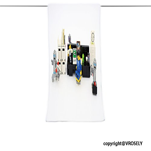 Pendelton Mini (VROSELV Custom Towel Soft and Comfortable Beach Towel-hong kong feb office boy and robot mini characters from different genation Design Hand Towel Bath Towels For Home Outdoor Travel Use 7.9