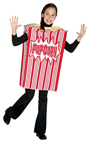 UHC Girl's Movie Night Popcorn Funny Theme Outfit Fancy Dress Child Costume, Child M (7-10)