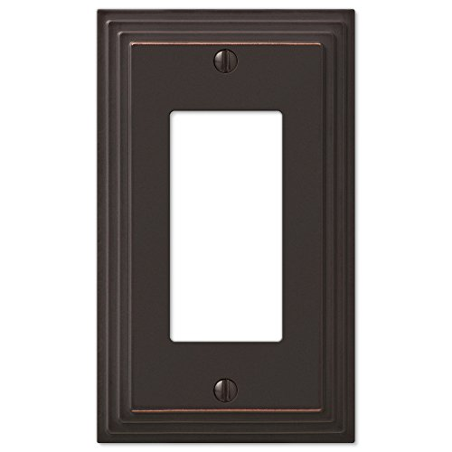 (Step Design GFCI Decora Rocker Wall Switch Plate Outlet Cover - Oil Rubbed Bronze)