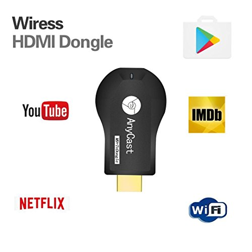 WiFi Wireless Display Dongle 1080P Mini Receiver Sharing HD Video from Projectors Cell Phones Tablet PC Support Airplay/ Chromecast/Chromecast Tv/Miracast/Miracast Dongle for Tv by Colorful lucky (Image #1)'