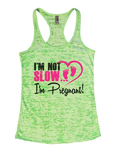 "Women's Early Pregnancy Tank Top ""Im Not Slow Im Pregnant"" Maternity Shirt Funny Threadz X-Large, (Early Maternity Clothes)"