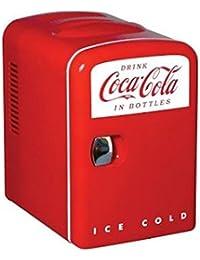 Coca Cola 0.14 cubic foot Retro Fridge in Red