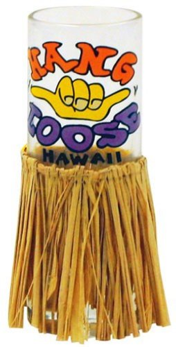 Hawaiian Shot Glass Hang Loose with Hula Skirt ()
