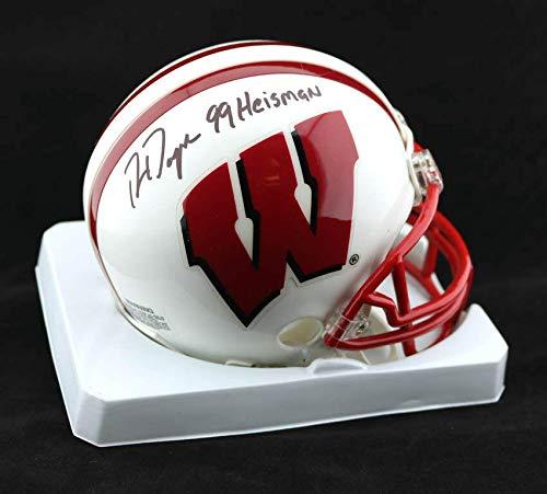 PSA//DNA Certified Autographed College Mini Helmets 99 Heisman Trophy AUTOGRAPHED Ron Dayne SIGNED Wisconsin Mini Helmet