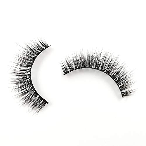 EDA LUXURY BEAUTY CATCH 3D Faux Mink False Lashes | Super Soft Natural Look | Light Volume | Medium Long Length | Eyelash Extensions | Flare Fluffy Spiky Effect | Vegan & Cruelty-Free | Fake Eyelashes