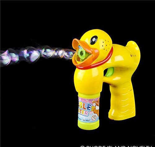 6'' LIGHT UP DUCK BUBBLE BLASTER, Case of 48 by DollarItemDirect