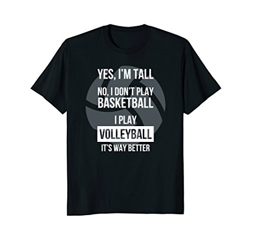 - Tall people play volleyball funny graphic tee shirt gift