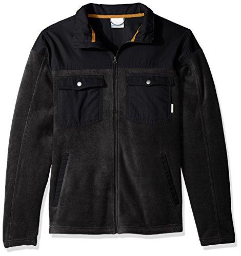 Columbia Men's Cascades Explorer Full Zip Fleece Jacket, Black, Large (Mens Zip Fleece Full)