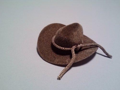 Miniature Brown Felt Cowboy Hats (Set of -