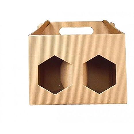 Caja de cartón para 2 tarros de miel de 500 g, color marrón ...