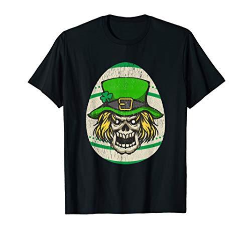 Scary Leprechaun Skull Irish Easter Egg Shirt]()