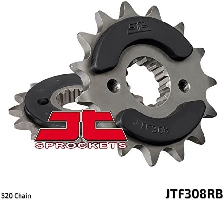 Honda SLR650 V,W RD09 97-98 Suzuki GSX-R1100 WP,WR 520 Chain Conversion 93-94 JT Rubber Cushioned Front Drive Motorcycle Sprocket JTF308RB 15 Teeth fits Yamaha XTZ660 Z Tenere ABS 11D 11-15