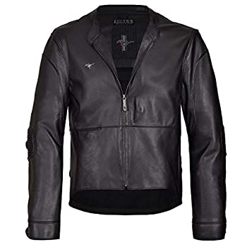 Image of Apparel Mustang Jacket Black Genuine Leather Ford Original Special Driver