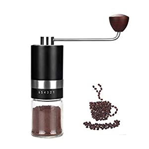 VEVOK CHEF Manual Coffee Grinder Burr Coffee Grinder (CNC Stainless Steel Burr) Grinder 6 Adjustable Setting Portable…