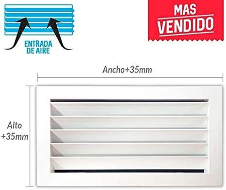 Marco de montaje Rejilla de ventilaci/ón retorno blanco