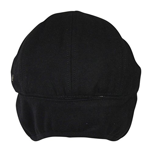 24b74bfb141 Black Wool Winter Ivy Cabbie Hat w  Fleece Earflaps - Driving Hat ...