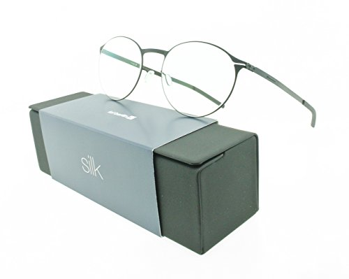 Brand New Authentic ic! berlin eyeglasses Etesians Black Round Metal Frames by IC BERLIN