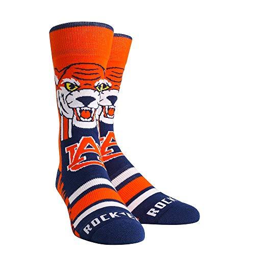 NCAA Super Premium College Fan Socks (L/XL, Auburn Tigers - Knitted Mascot)