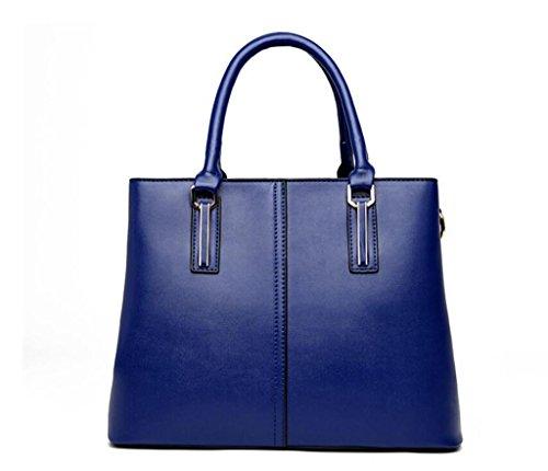 della pelle tracolla blue in a multifunzionale blue Croce signora borsa Shopping borsa Borsa sub cerniera Diagonale madre Chiusura a borsa NVBAO Shopping 7nxfwt8qR
