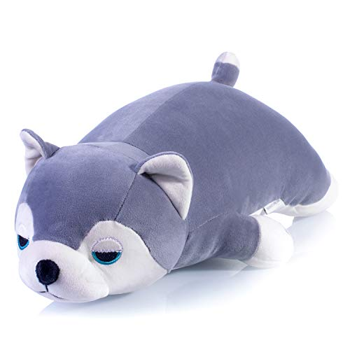 - meowtastic Husky Plush Pillow Toy Stuffed Animal Puppy Throw Pillow Baby Boy Girl Pet 20 Inches