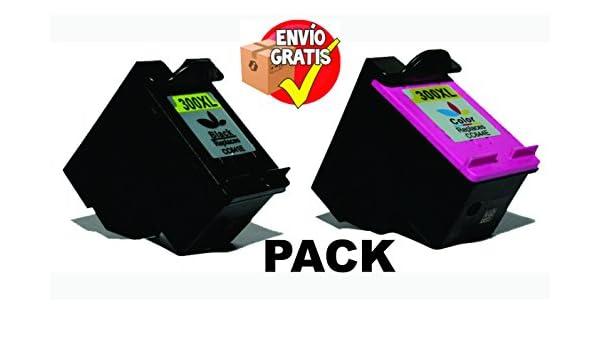 GOLDAN REMANUFACTURADO HP TINTA INKJET PACK 2 UNIDADES CC641EE (Nº 300XL Negro) CC644EE (Nº 300XL Color) (Deskjet D2500 Series / D2600 Series / D5500 Series / D5600 Series / F2400 Series /