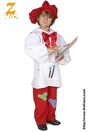 EL REY DEL CARNAVAL SL Disfraz Pintor Infantil T. 10  Amazon.es  Productos  para mascotas d520dca2eb1