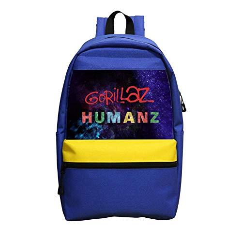 Humanz G-orillaz Music Videos Rock Hip Hop Logo Backpack Nautical Striped School Bookbags Rucksack Satchel for Teens Boys Girls