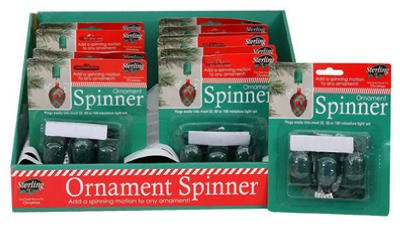Sterling Christmas Ornament (STERLING SUPPLY 12010002 3-Pack Ornament Spinner)