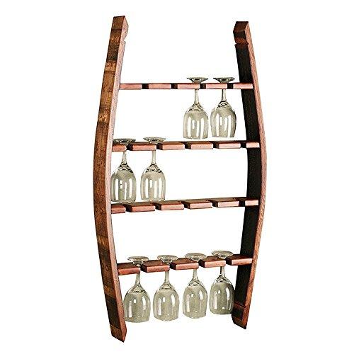 - XHRACK Wine Glass Holder Solid Wood Hanging European Household Wine Glass Shelf Living Room Creative Goblet Shelf 4 Layers Suitable Family Wine Cellar Bar