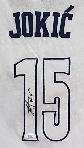 Nikola Jokic Denver Nuggets Signed Autographed White Alternate Pride #15 Jersey JSA COA ()