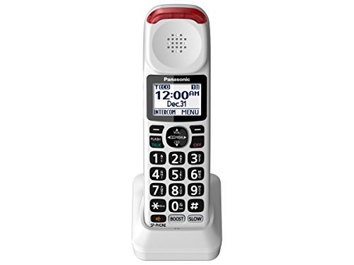 Panasonic Digital Telephone (Panasonic KX-TGMA44W Amplified Additional Cordless Handset for KX-TGM420W , White)