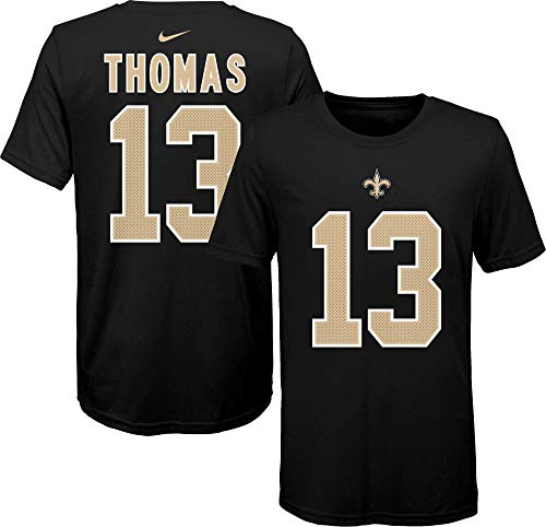 Nike Michael Thomas New Orleans Saints NFL Boys Youth 8-20 Black Player Pride Name & Number T-Shirt